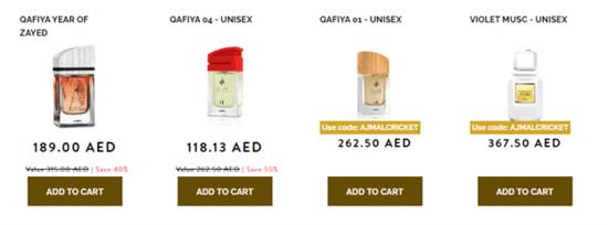 Ajmal Perfumes Unisex