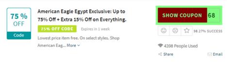 American Eagle Egypt Code