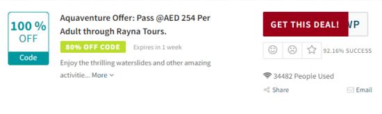 Aquaventure Waterpark Code