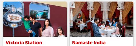 Bollywood Parks Dinning
