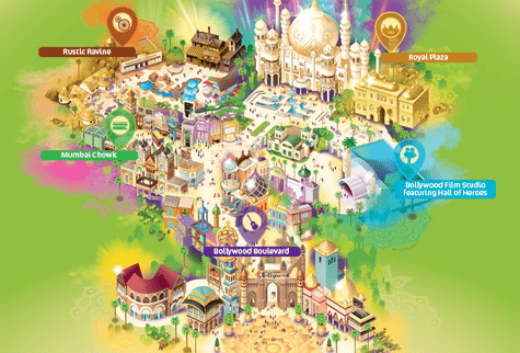 Bollywood Parks Zones