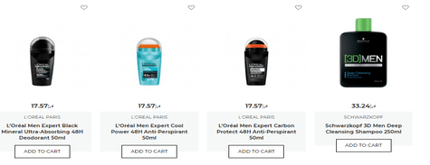 Cosmetis Man Products