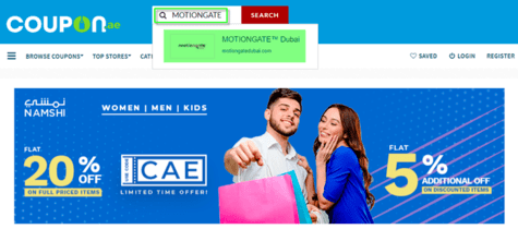 Motiongate Coupon.ae
