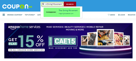 The Giving Movement Coupon.ae