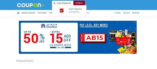 Virgin Coupon.ae