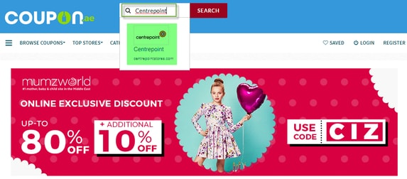 Centrepoint Coupon.ae