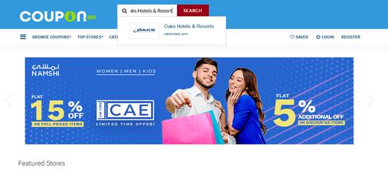 Search Oaks Hotels & Resorts