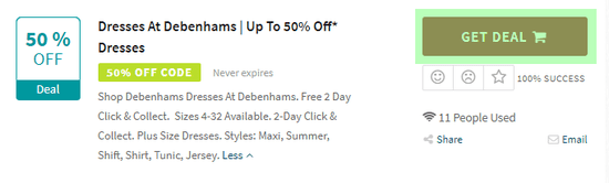 Debenhams Code