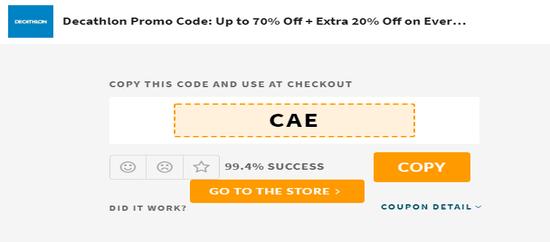 Copy Decathlon Code