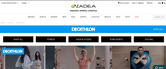 Decathlon Website