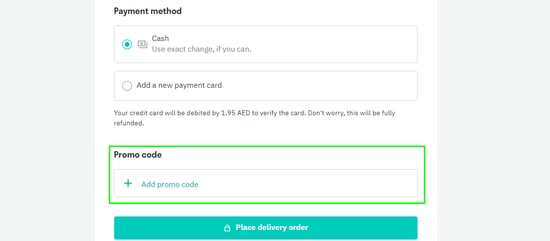 Deliveroo Checkout