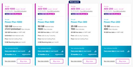 DU Mobile Plans