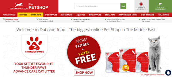 Dubai Pet Food UAE