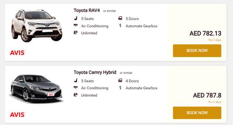 Etihad Car Rentals