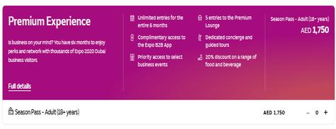 Expo 2020 Dubai Premium Experience