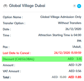 Global Village Discount