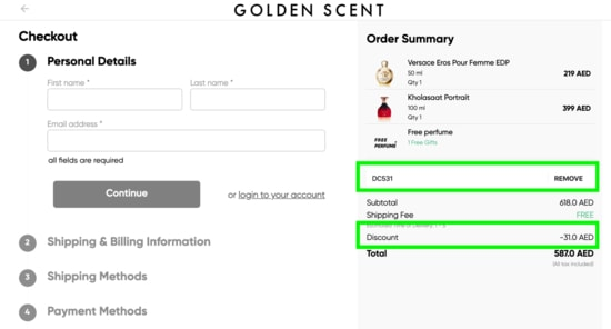 Golden Scent Cart