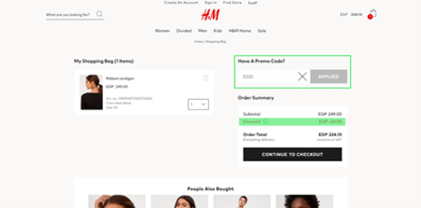 H&M Egypt Promo Code