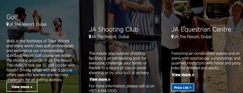 JA Resorts Experiences