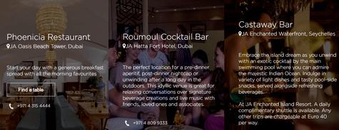 JA Resort Restaurants