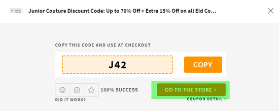 Junior Couture Coupon
