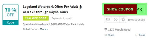 Legoland Water Park Code