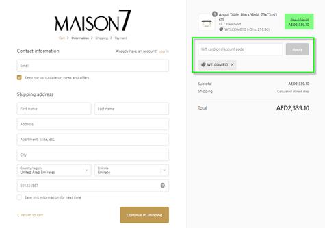 Maison7 Discount