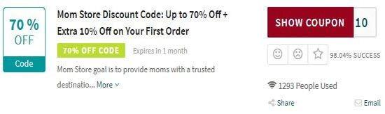 Show Mom Store Coupon Code