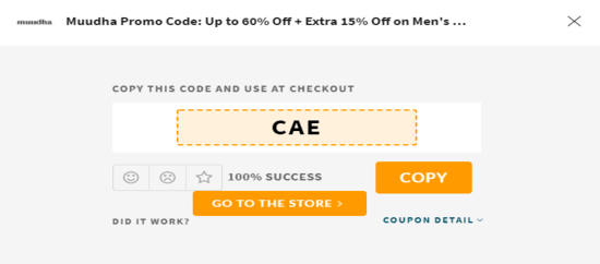 Copy Muudha Code Now!