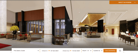 Oberoi Hotels Business Bay, Dubai