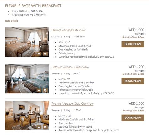 Palazzo Versace Rooms