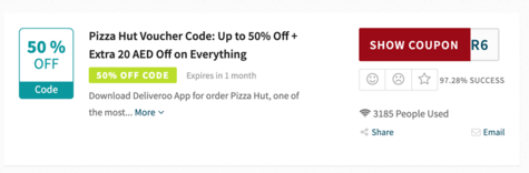 Pizza Hut Code