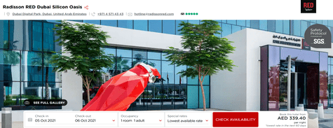 Radisson Hotel RED Dubai Silicon Oasis