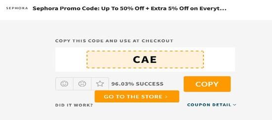 Sephora UAE Code