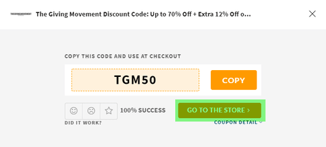 The Giving Movement Coupon