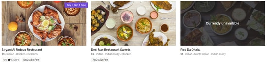 Uber Eat Indian