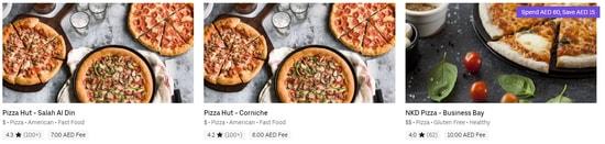 Uber Eat Pizza