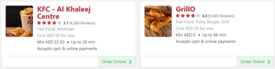 Zomato Fast Food